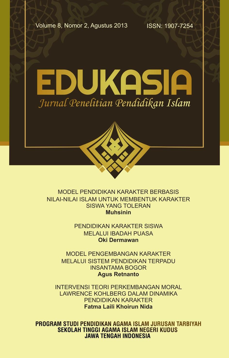 Edukasia Jurnal Penelitian Pendidikan Islam